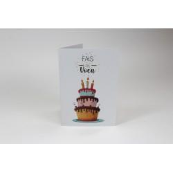 Gâteau d'anniversaire étagé, cartes personnalisables, Français