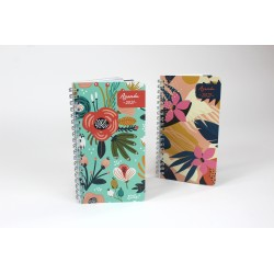 Customizable, French agenda 2021, 6,5''x9'', Floral series