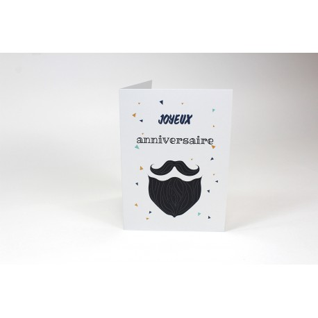 Beard and mustache, Customizable Cards, French