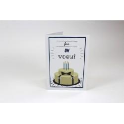 Noeud papillon, cartes personnalisables, français