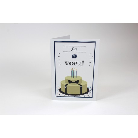 Bow tie and suspender, Customizable Cards, French