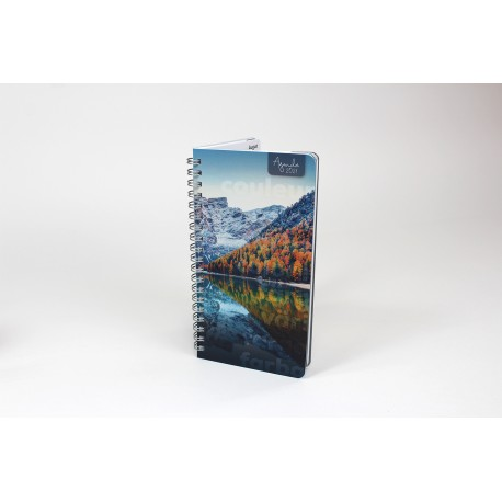 2021 Customizable French or Bilingual Planner, pocket, 3,5 '' x 6,75 '', Landscape