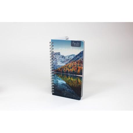 Personnalisable, format de poche 2021, français ou bilingue, 3,5'' x 6,75'', Paysage