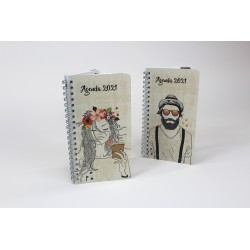 "Name printed on the cover, 2021 Pocket agenda, French or bilingual, 3.5''x6.75"", Drawing"