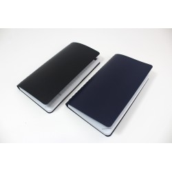 Textured leather imitation cover, non-personalized, French 2021 agenda, 6,5'' x 9''
