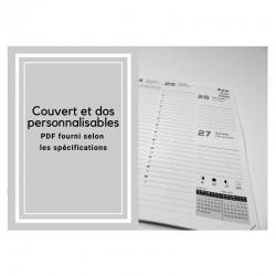 Personnalisable, Agenda ou bilingue 2021 Français (PDF fourni) - 6,5'' x 9''