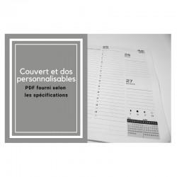 Agenda 2021 français personnalisable (PDF fourni), hebdomadaire - 8,5'' x 11''