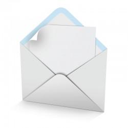 Enveloppes blanches pour carte de voeux, supplémentaire