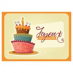 20 cartes d'anniversaire sans texte - Gâteau - Français