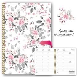 Customizable, agenda 2022, 6,5''x9'', Flowers-2