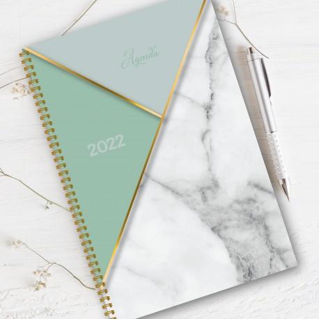 Non personalized, agenda 2022, 6.5''x9'', Marble