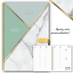 Customizable, agenda 2022, 6,5''x9'', Marble