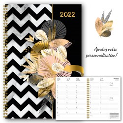 Customizable, French agenda 2021, 8.5 '' x 11 '', Rafters