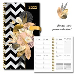 2022 Customizable French or Bilingual agenda, pocket, 3,5 '' x 6,75 '', Rafter