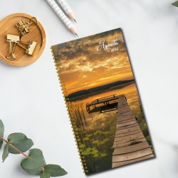Non-personalized, 2022 pocket agenda, french or bilingual, 3.5 '' x 6.75 '', Pond