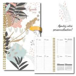 2022 Customizable agenda, pocket, 3,5 '' x 6,75 '', Flowers