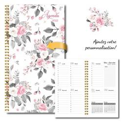2022 Customizable agenda, pocket, 3,5 '' x 6,75 '', Flowers 2