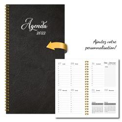 2022 Customizable agenda, pocket, 3,5 '' x 6,75 '', Plain color