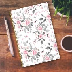 Notebook - 6,5'' x 9'' - Flowers 2