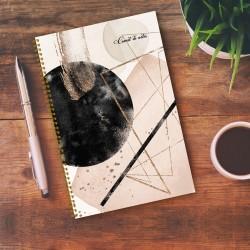 Notebook - 6,5'' x 9'' - Golden rose