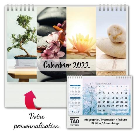 Customizable 2022 Desktop Calendar, Nature
