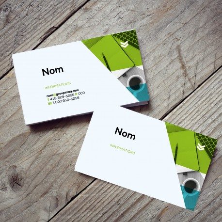 Business card, colors printing, standard paper, single-sided (C2S)