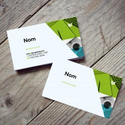 Cartes d'affaires, couleurs, papier standard glacé C2C - recto