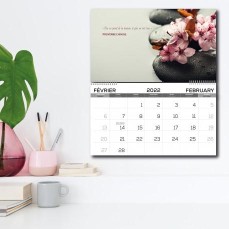2022 quarterly calendar, BILINGUAL
