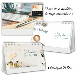 2022 Desk Calendars BILINGUAL, Customizable, Professional Classic Model