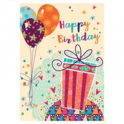 20 cartes d'anniversaire sans texte - Balloons - Anglais