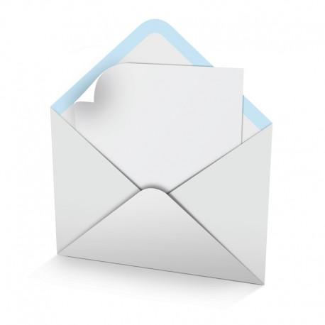 white envelope not printed for desk calendars size 7 x7