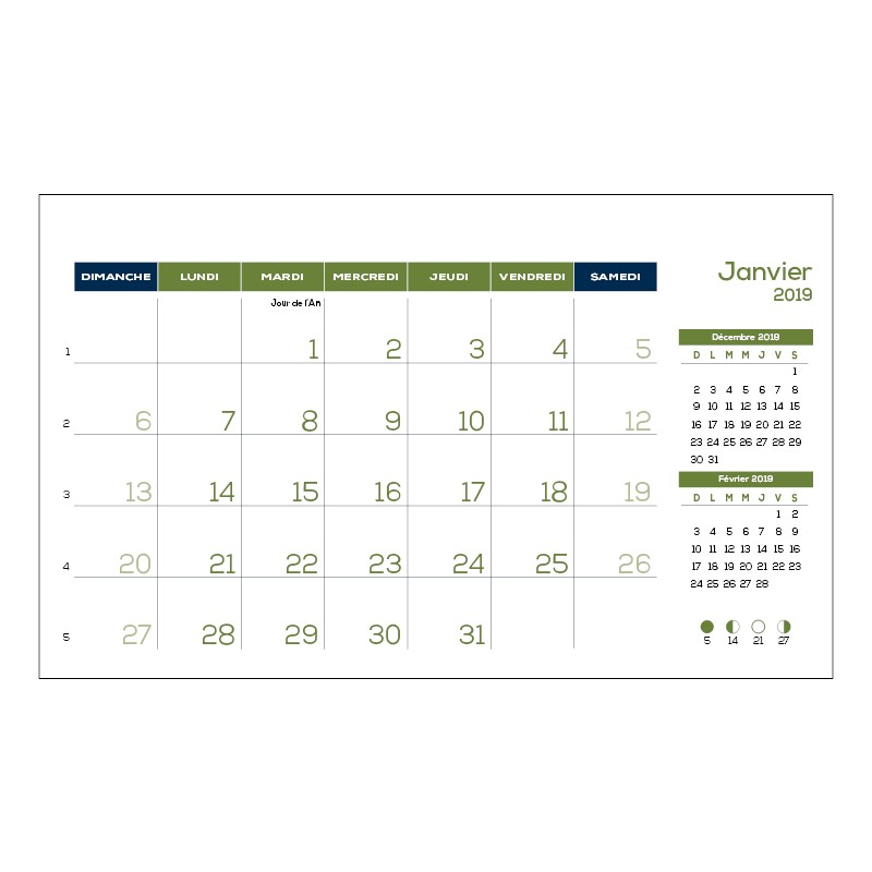 2018 Desk Calendars Customizable In French By Alliance